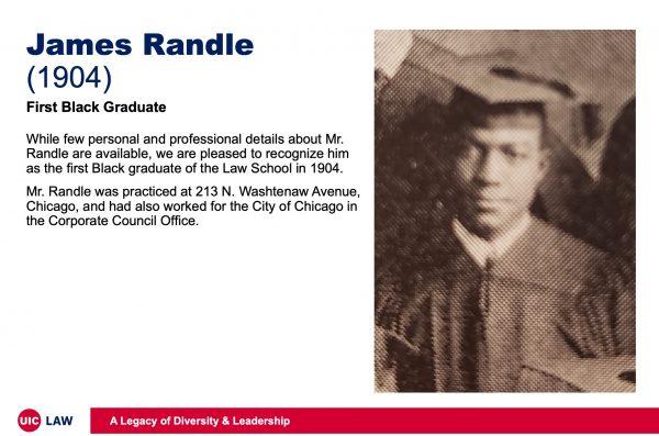 James Randle (1904), First Black Law Graduate