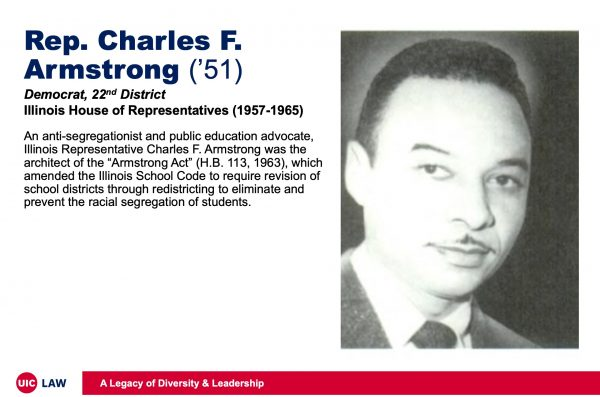 Rep. Charles Armstrong ('51), Democrat, 22nd District, Illinois House of Representatives (1957-1965)
