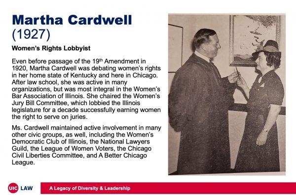 Martha Cardwell (1927), Women's Rights Activist