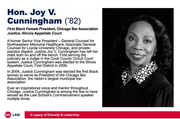 Hon. Joy V. Cunningham ('82), First Black Female President of the Chicago Bar Association
