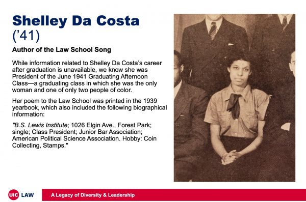 Shelley Da Costa ('41), Author of the Law School Song