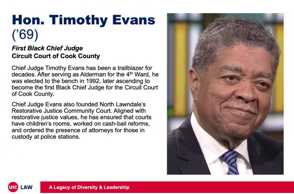 Hon. Timothy Evans ('69), First Black Chief Judge, Circuit Court of Cook County