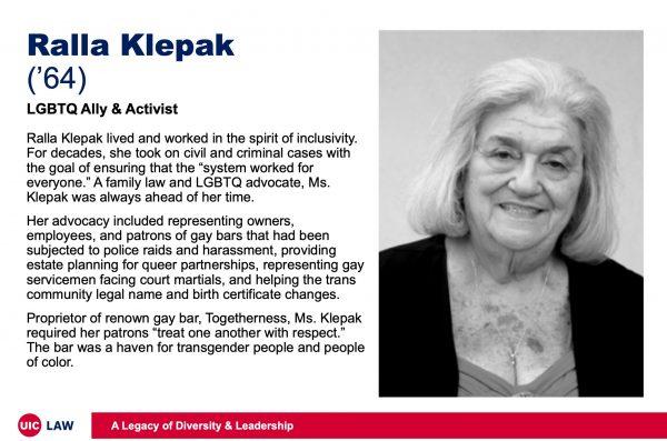 Ralla Klepak ('64), LGBTQ Ally & Activist