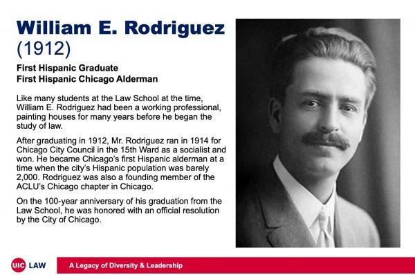William E. Rodriguez (1912), First Hispanic Law Graduate