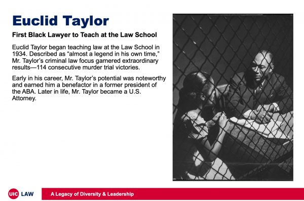 Euclid Taylor, First Black Lawyer to Teach at the Law School